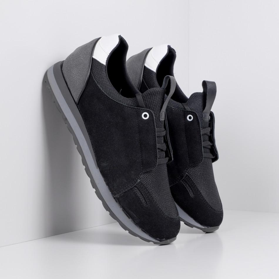 Ανδρικά μαύρα αθλητικά παπούτσια FM tr180320-31
