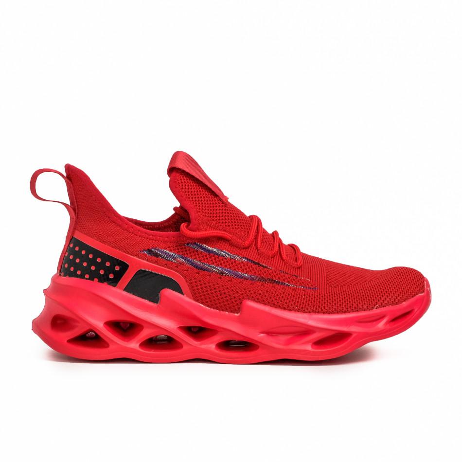 Ανδρικά κόκκινα sneakers Chevron it090321-3