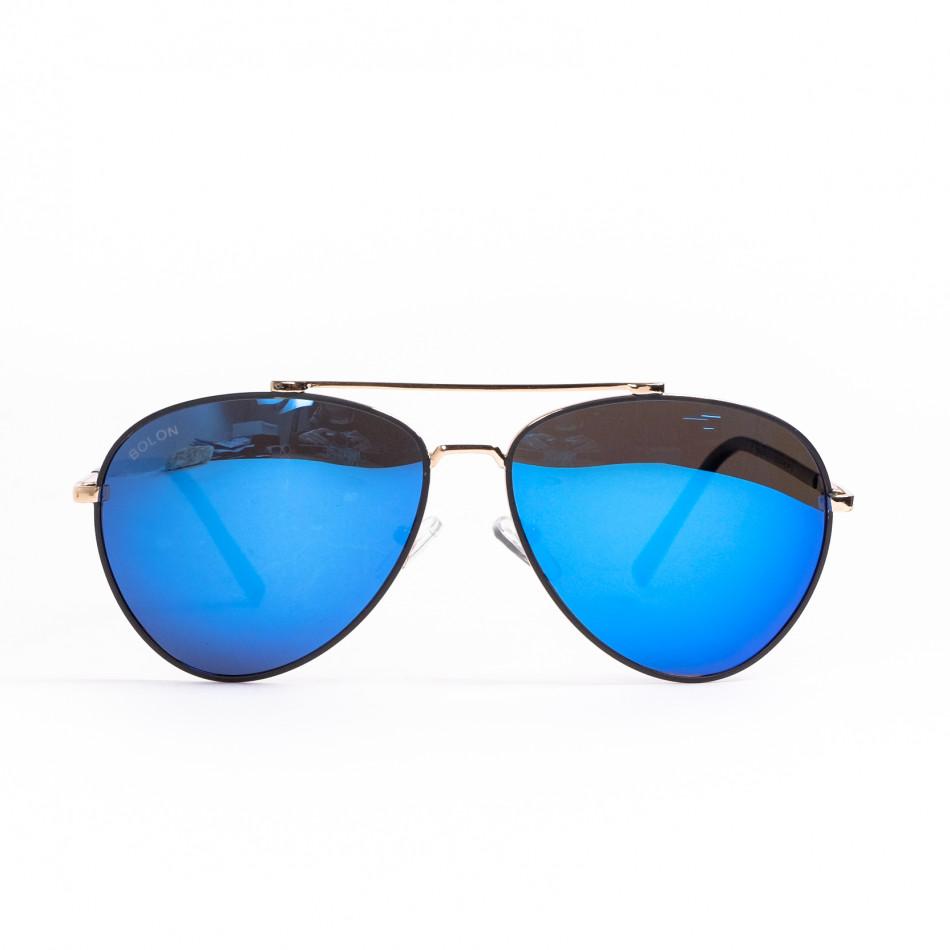Ανδρικά γαλάζια γυαλιά ηλίου aviator il200521-3