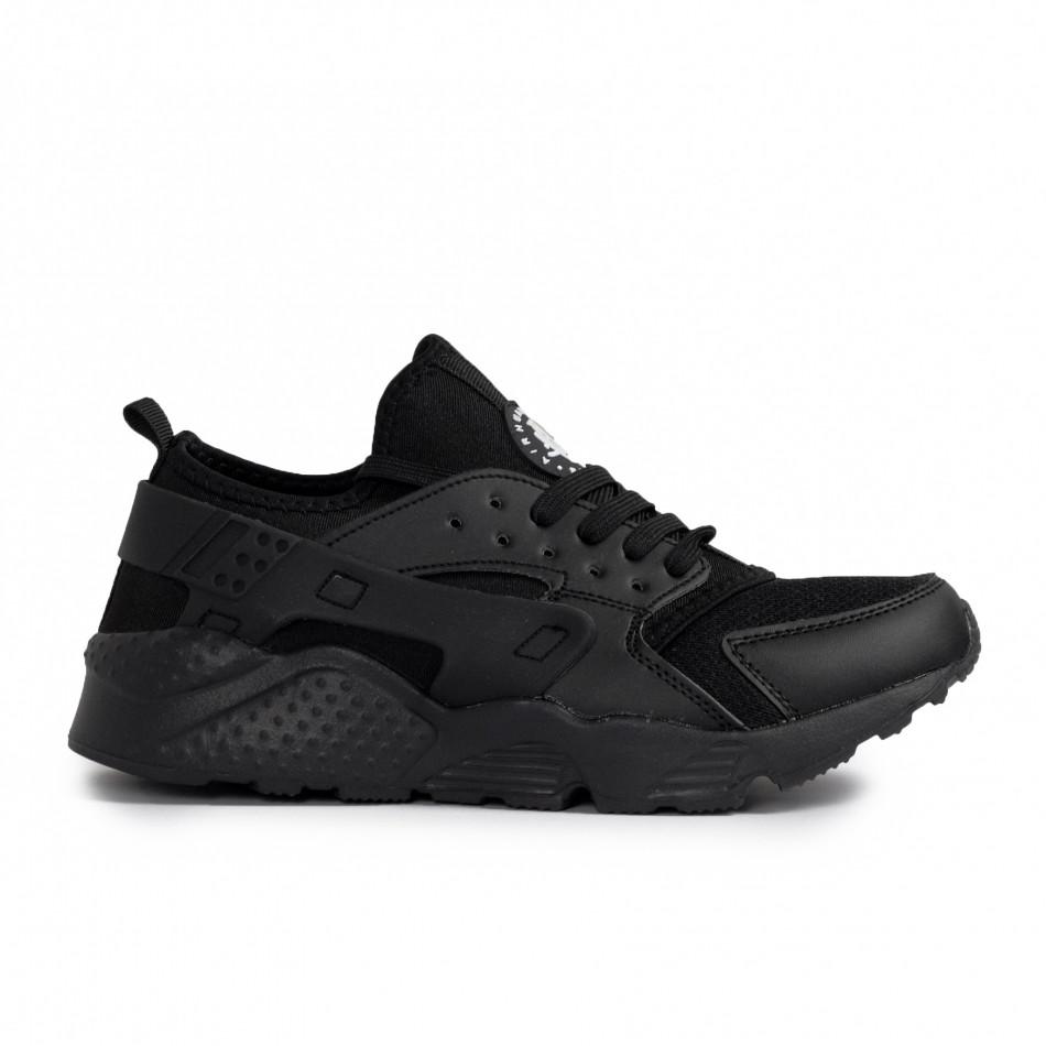 Ανδρικά μαύρα sneakers Plus Size gr020221-16