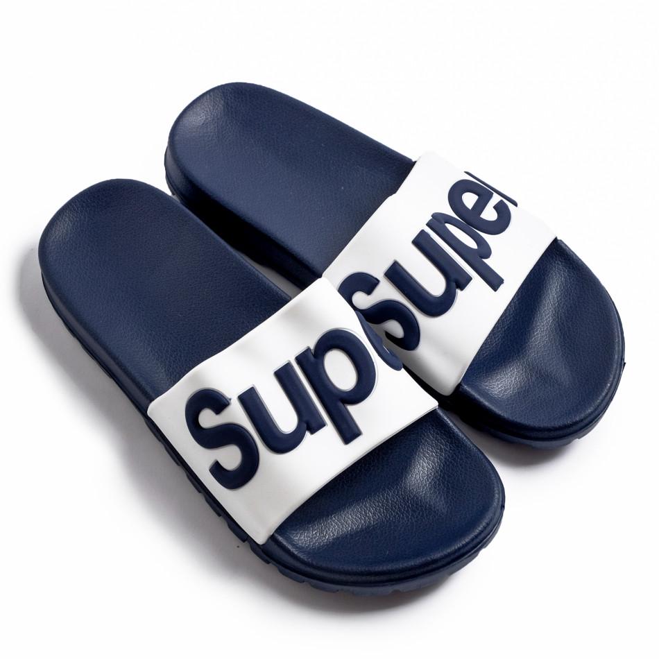 Ανδρικές μπλε σαγιονάρες Super it260620-4