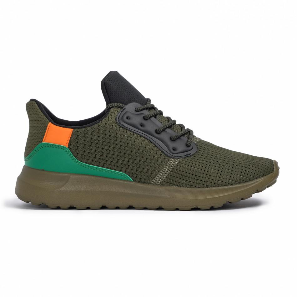 Ανδρικά πράσινα αθλητικά παπούτσια Kiss GoGo it260620-8