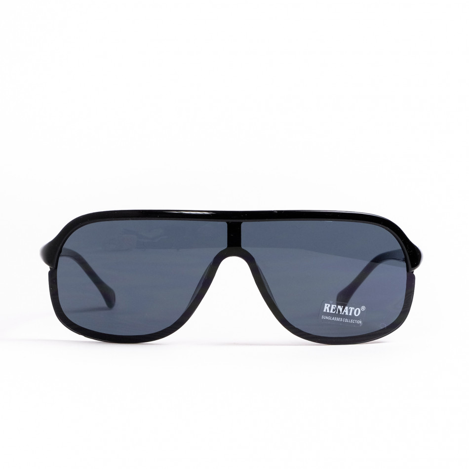 Ανδρικά μαύρα γυαλιά ηλίου μάσκα il200521-12