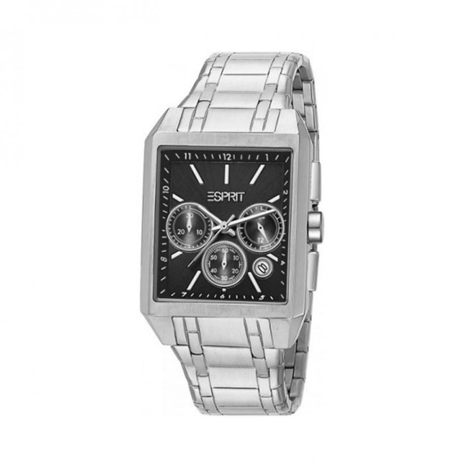 Ανδρικό ρολόι Esprit Quartz Steel Black Dial ES104061003 ES104061003