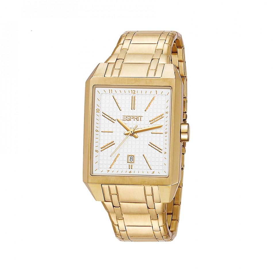 Ανδρικό ρολόι Esprit PVD Gold White Dial   ES104071005