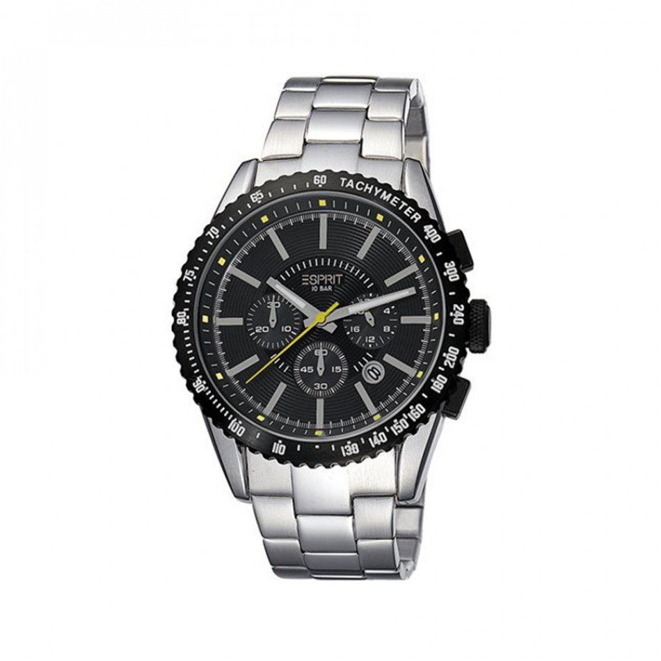 Ανδρικό ρολόι Esprit Quartz Chronograph PVD Black ES104031006 es104031006