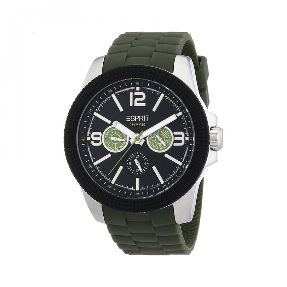 Ανδρικό ρολόι Esprit Black Dial Olive Band ES105831002