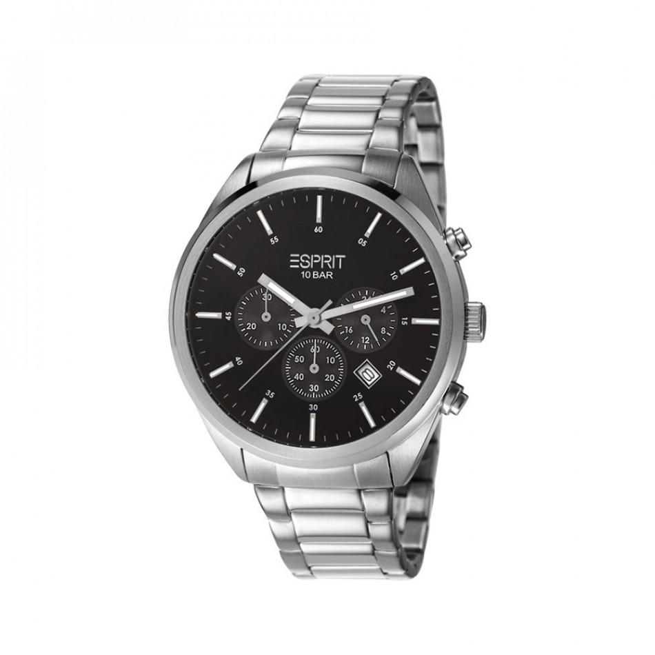 Ανδρικό ρολόι Esprit Steel Quartz Chronograph Black Dial  ES106261006