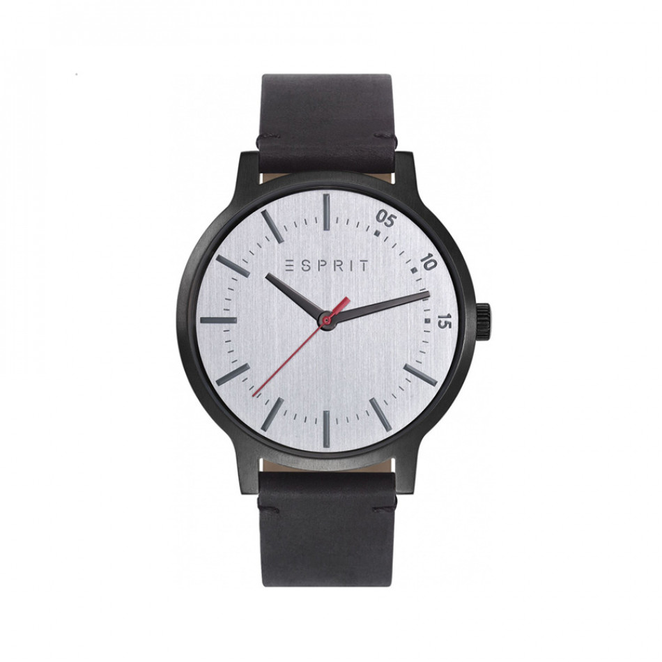 Ανδρικό ρολόι Esprit Silver Dial Black Leather Quartz  ES108271003