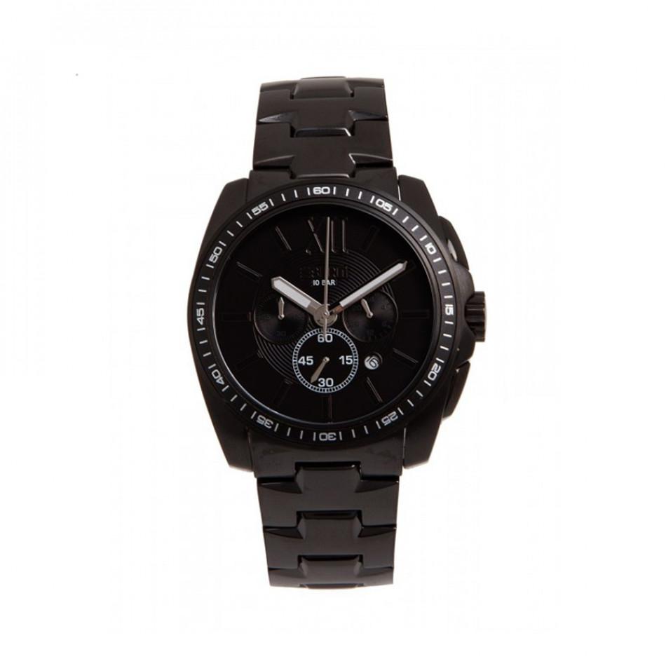Ανδρικό ρολόι Esprit Black Dial Black PVD Quartz Chronograph  es103591007