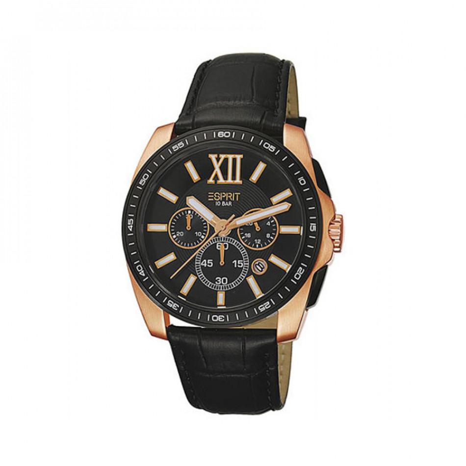 Ανδρικό ρολόι Esprit Quartz Chronograph PVD Black ES103591003 es103591003