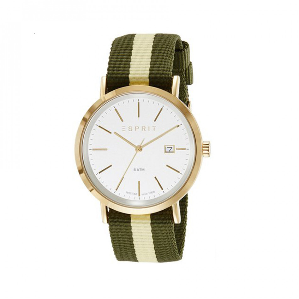 Ανδρικό ρολόι Esprit White Dial Yellow Gold Plated ES108361002 ES108361002