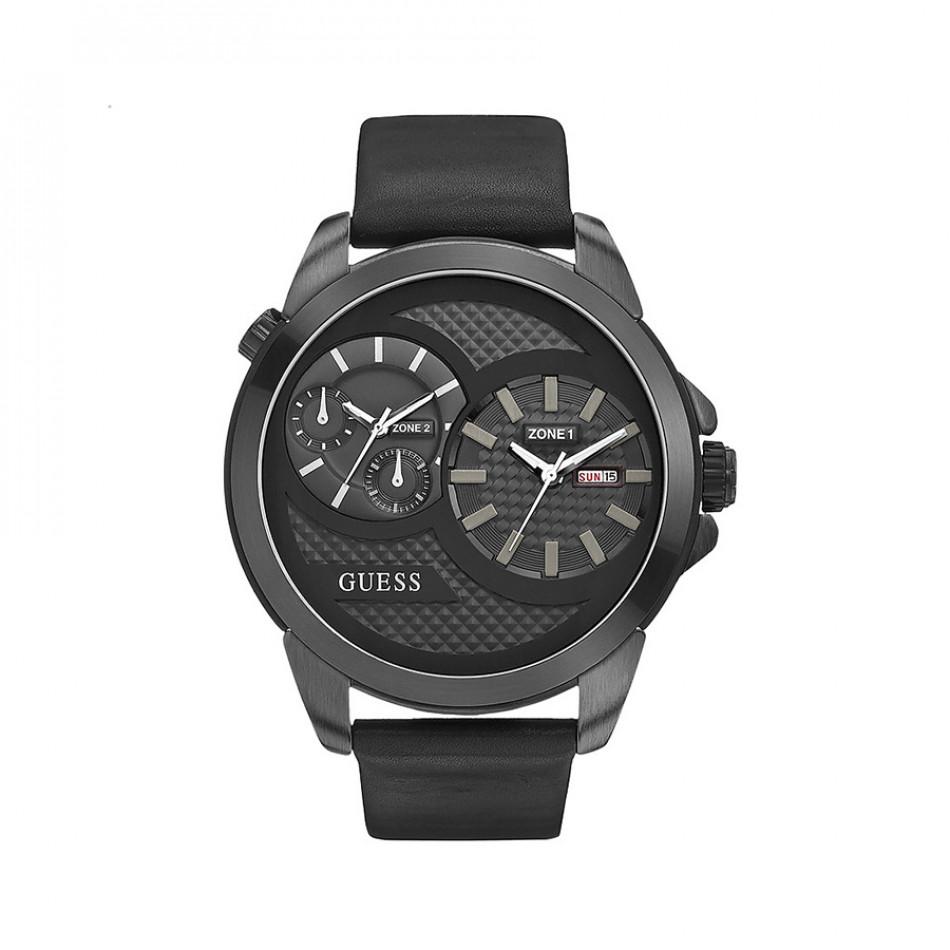 Ανδρικό ρολόι Guess Black Dual Time W0184G1 W0184G1