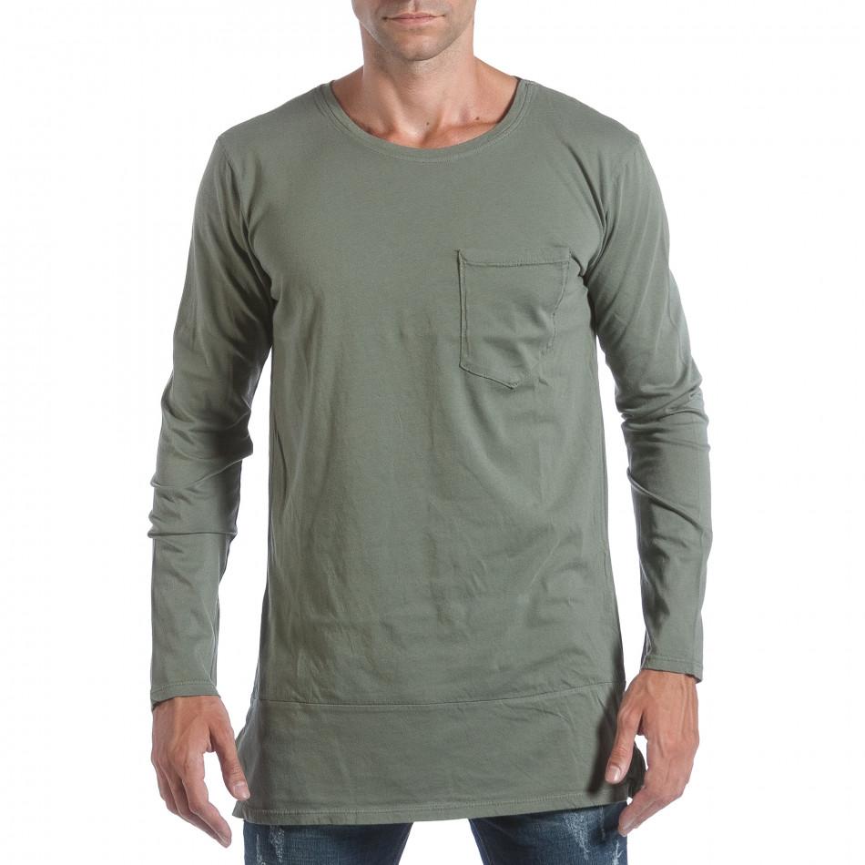 Ανδρική πράσινη μπλούζα MM Studio it160817-84