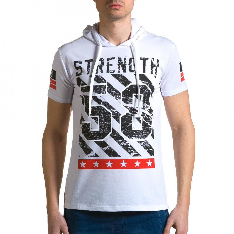 Ανδρική λευκή κοντομάνικη μπλούζα Belman ca190116-42