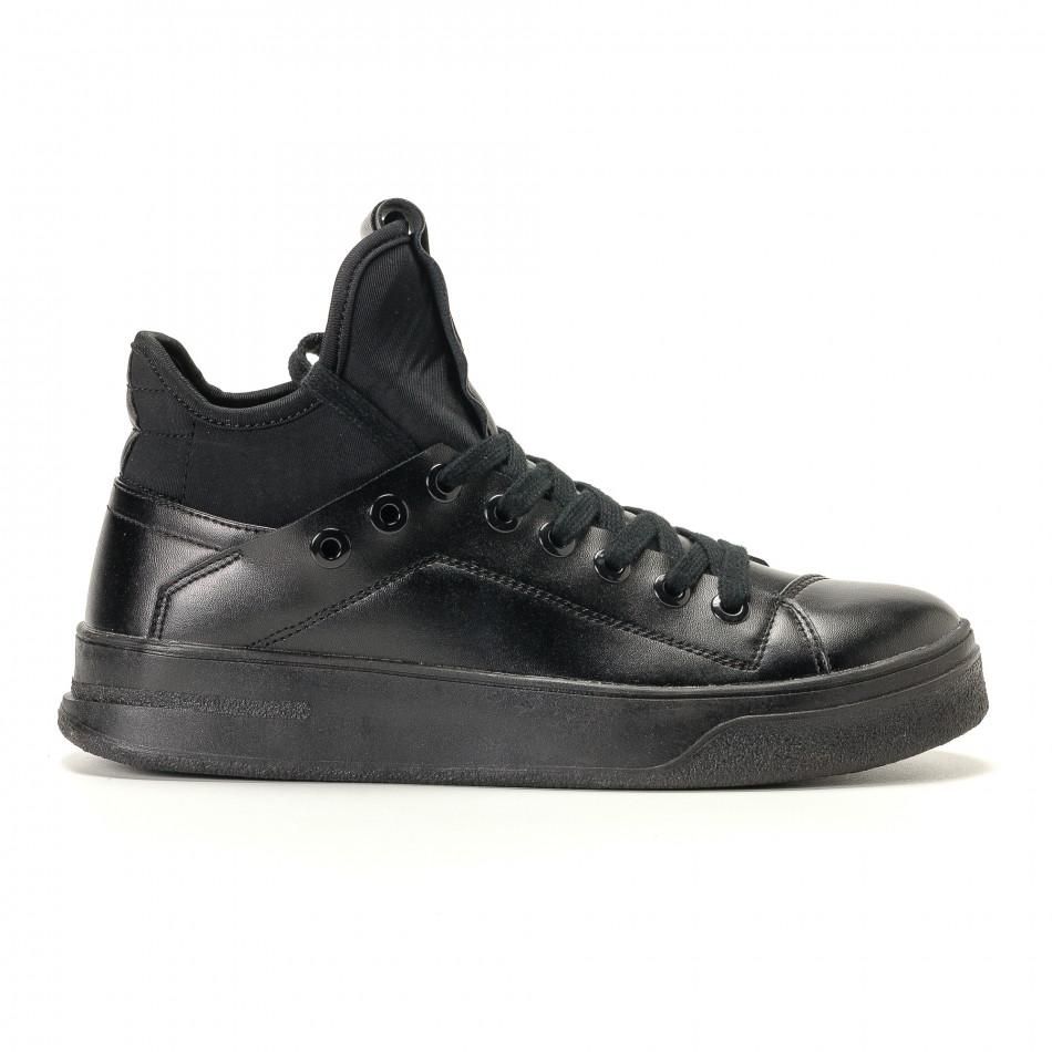 Ανδρικά μαύρα sneakers Montefiori it200917-15