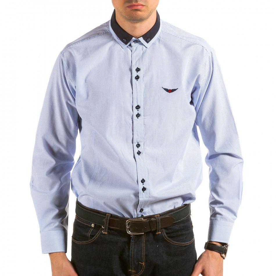 Ανδρικό γαλάζιο πουκάμισο Royal Kaporal il180215-177