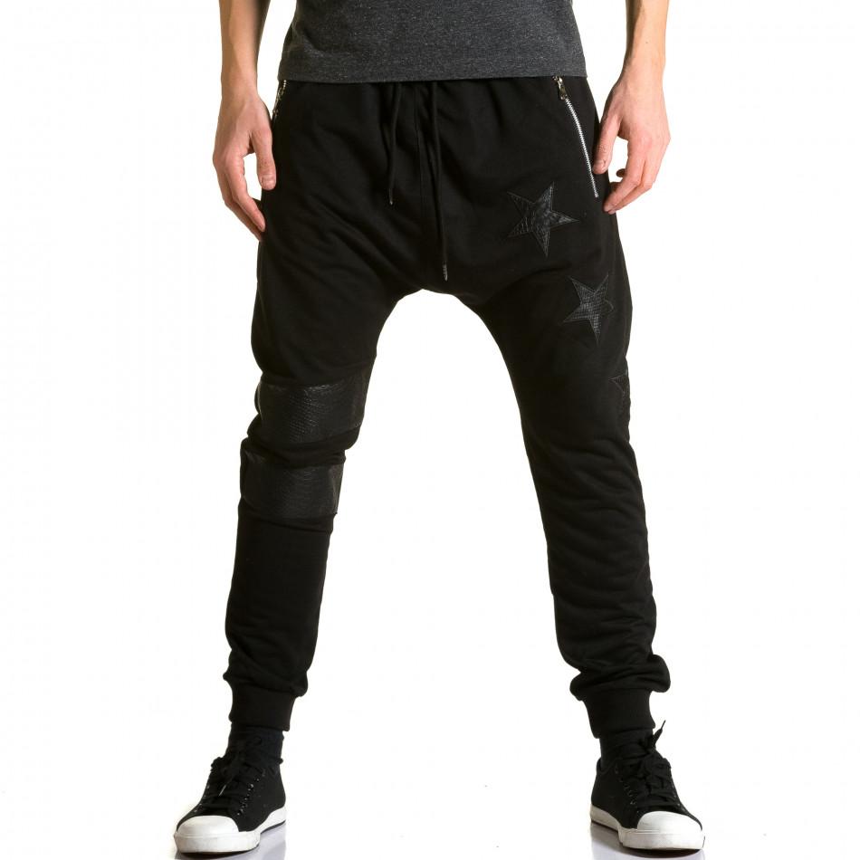 Ανδρικό μαύρο παντελόνι jogger Jack Davis ca190116-21