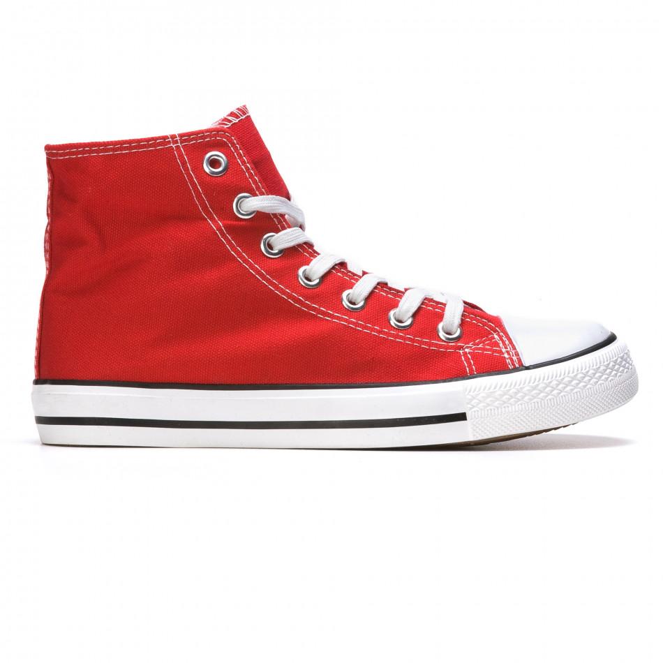 Ανδρικά κόκκινα sneakers Dilen it170315-11