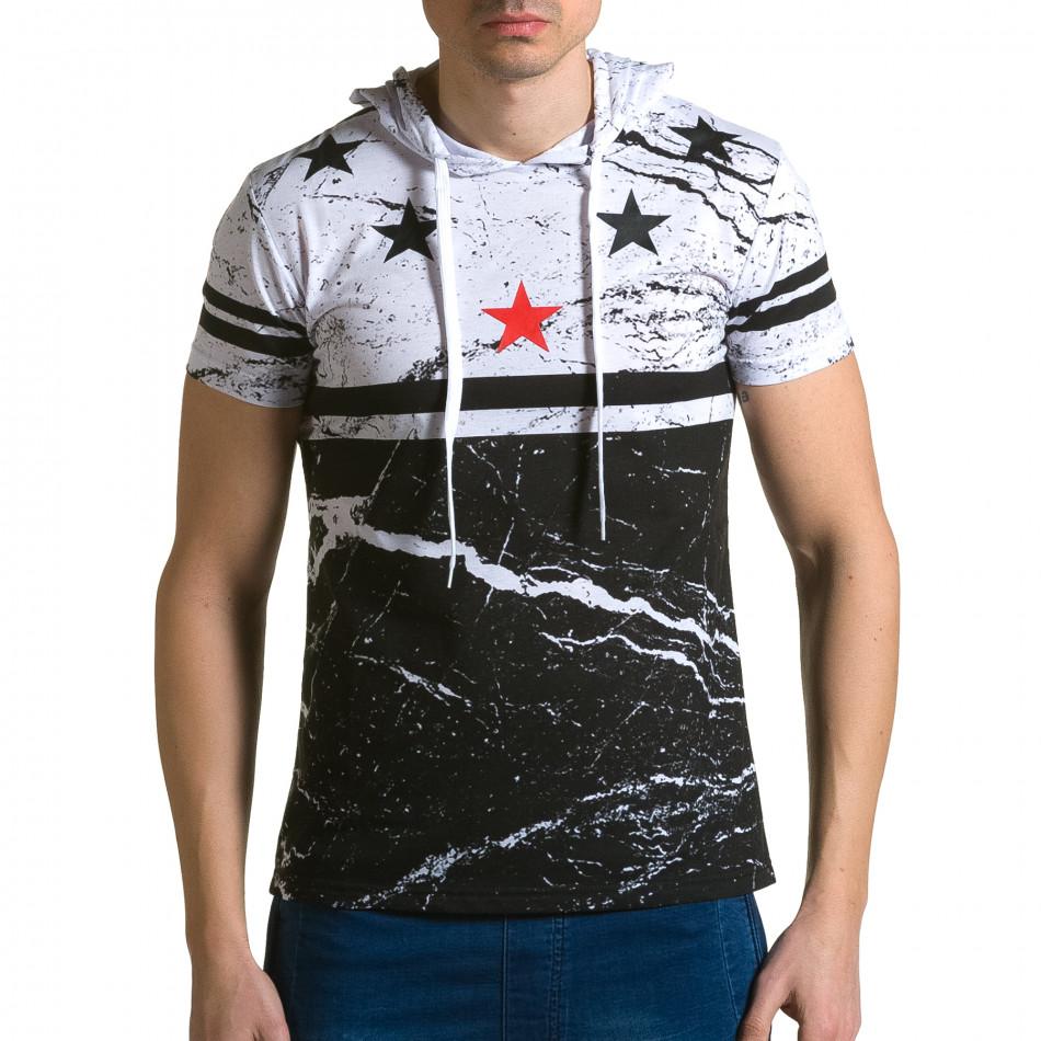 Ανδρική λευκή κοντομάνικη μπλούζα Belman ca190116-39