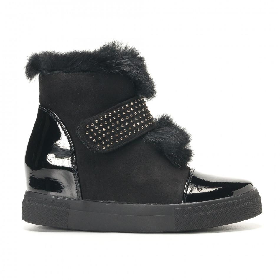 Γυναικεία μαύρα μποτάκια Fashion & Bella it291117-5