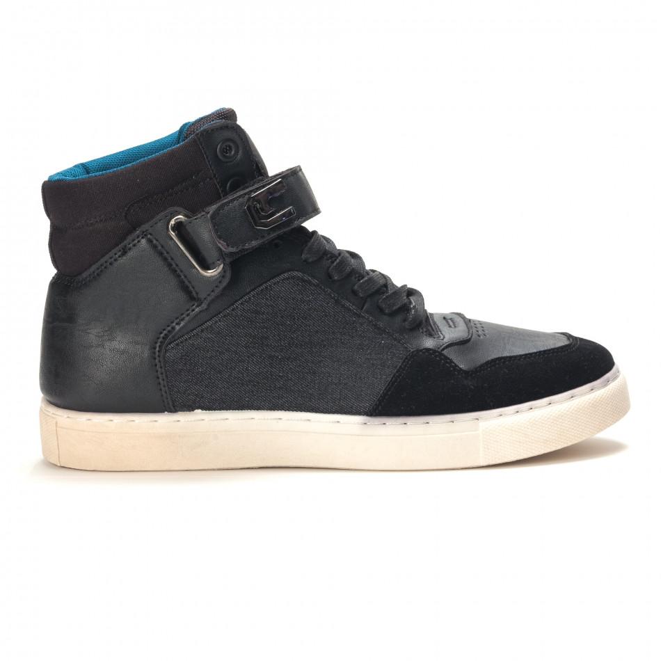 Ανδρικά μαύρα sneakers Reeca it100915-20