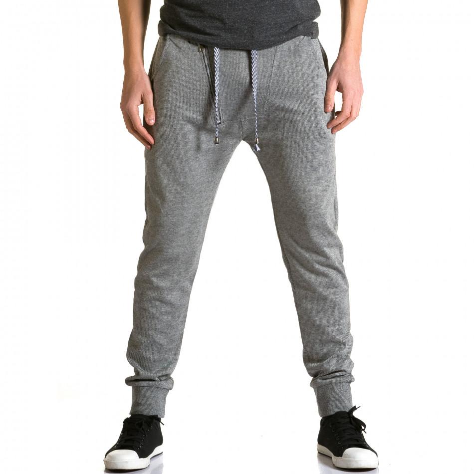 Ανδρικό γκρι παντελόνι jogger Furia Rossa ca190116-14