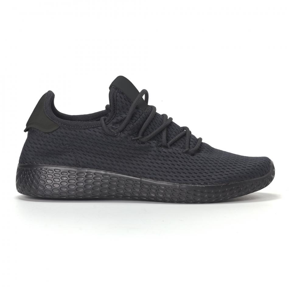 Ανδρικά μαυρα ελαφρία αθλητικά παπούτσια All-black it240418-31