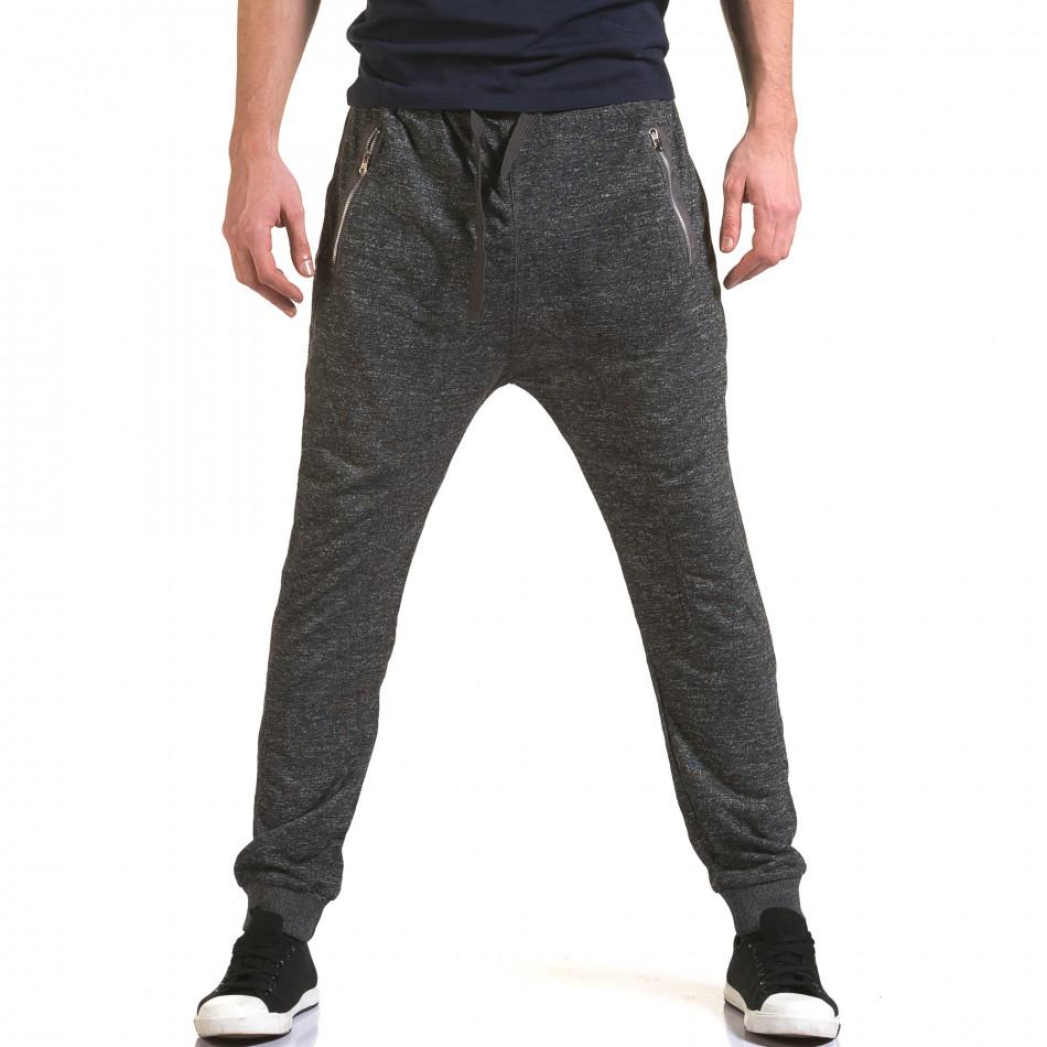 Ανδρικό γκρι παντελόνι jogger Dress&GO it090216-36