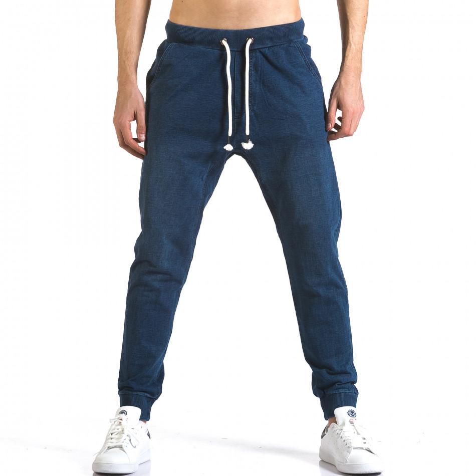 Ανδρικό γαλάζιο παντελόνι jogger Enos it090216-57