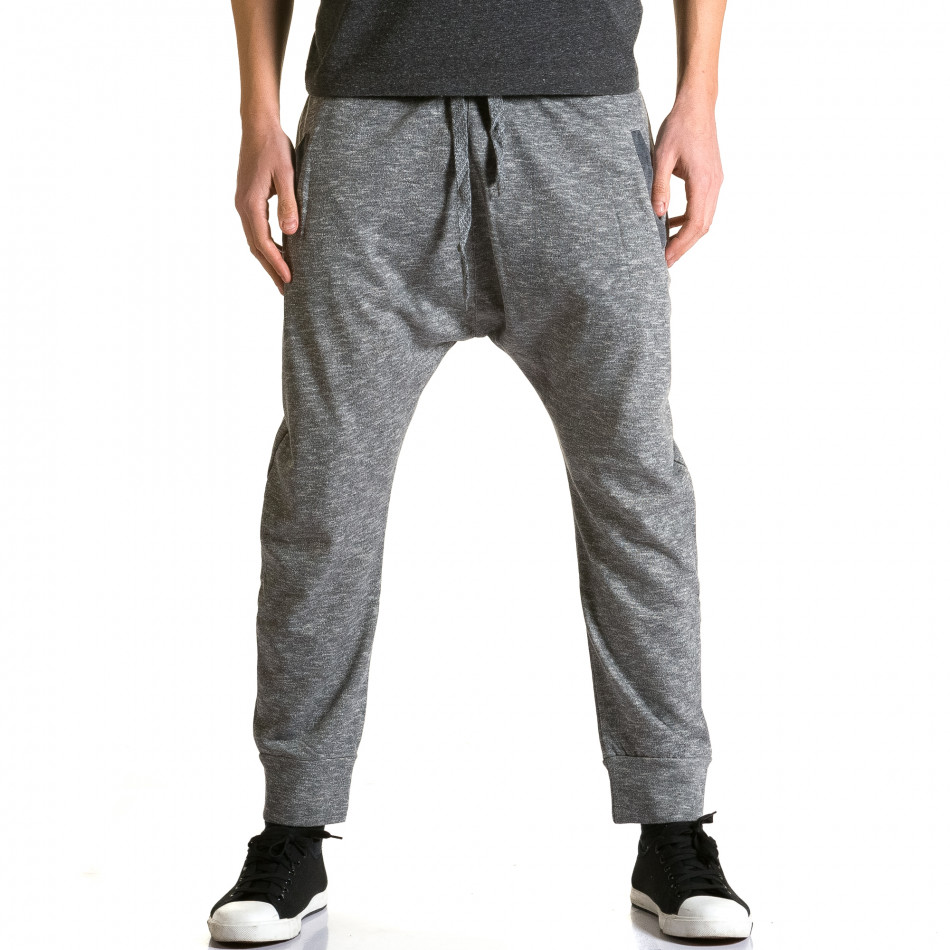 Ανδρικό γκρι παντελόνι jogger Max & Jenny ca190116-22