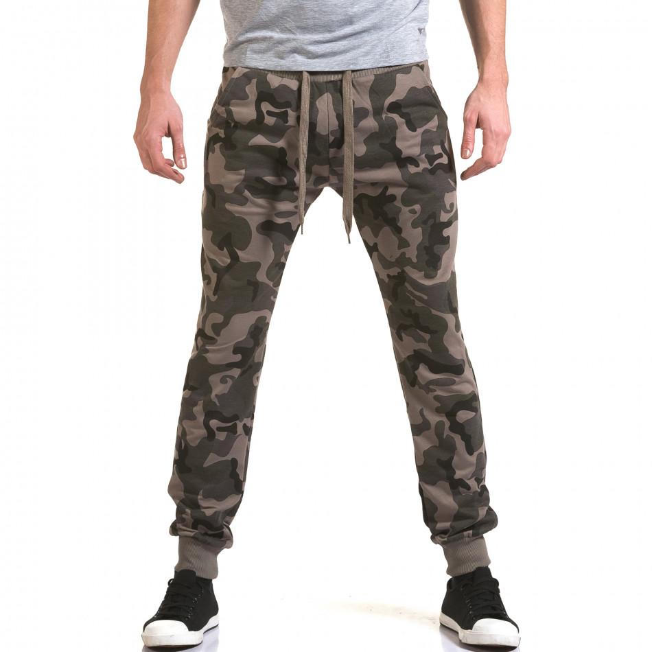 Ανδρικό πράσινο παντελόνι jogger Belmode it090216-47