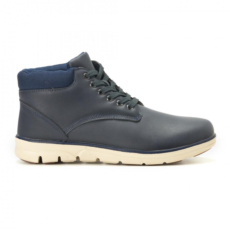 Ανδρικά γαλάζια sneakers Situo it251017-56