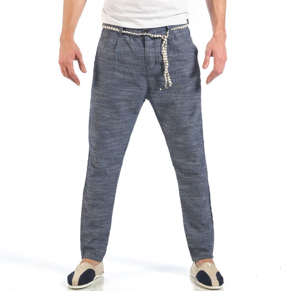 Ανδρικό γαλάζιο παντελόνι με κορδόνι it260318-108