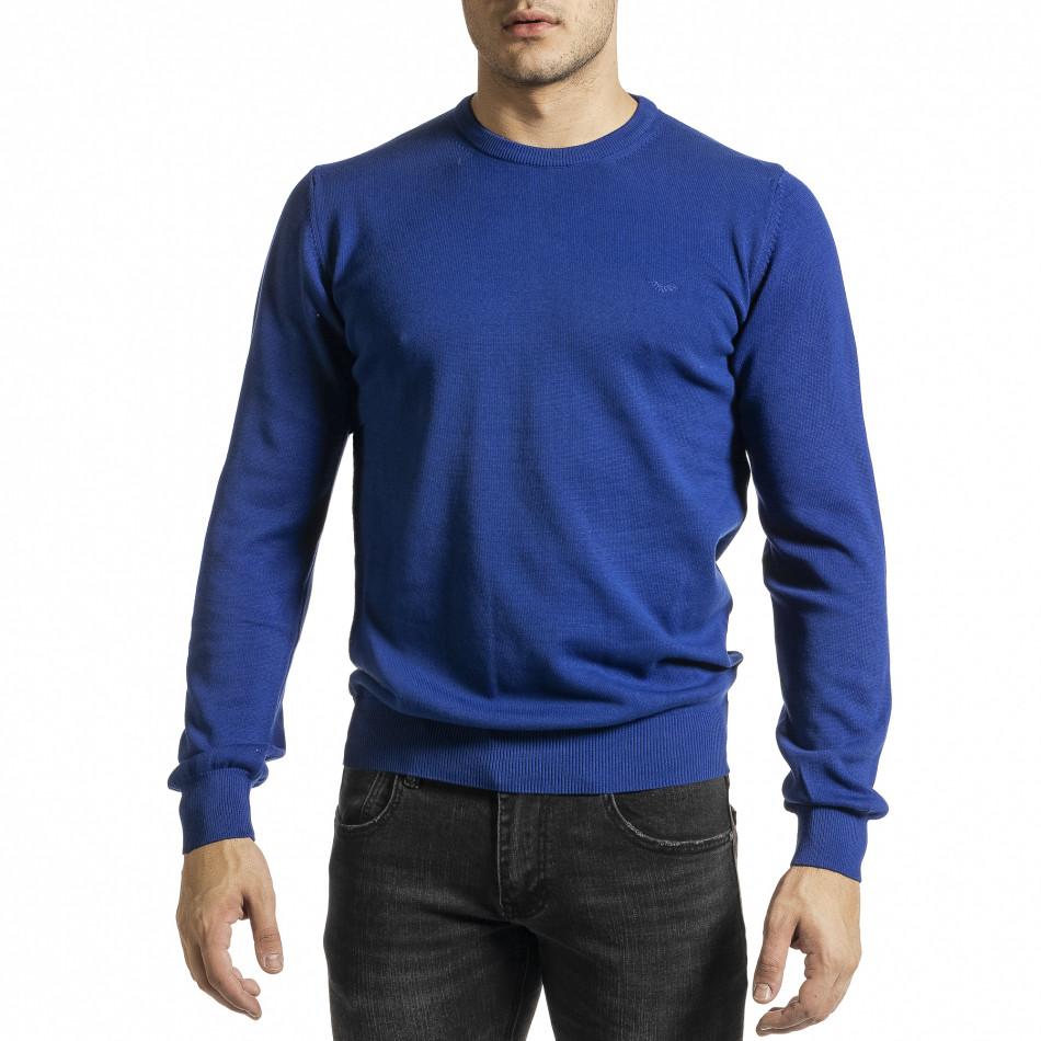 Ανδρικό γαλάζιο πουλόβερ Code Casual tr231220-1