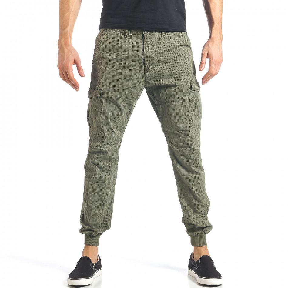 Ανδρικό πράσινο παντελόνι XZX-Star it290118-26