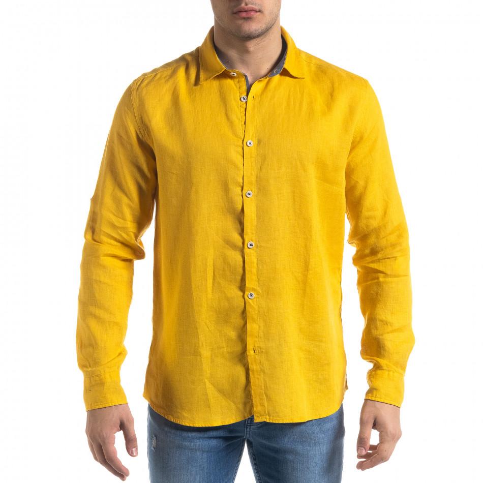 Ανδρικό κίτρινο πουκάμισο RNT23 tr110320-95