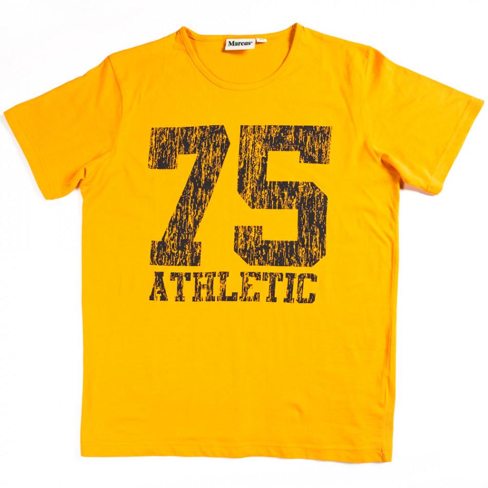 Ανδρική κίτρινη κοντομάνικη μπλούζα Marcus 070213-5