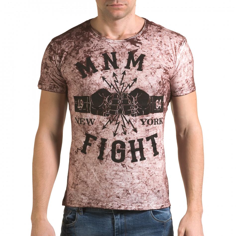 Ανδρική κόκκινη κοντομάνικη μπλούζα Lagos il120216-9