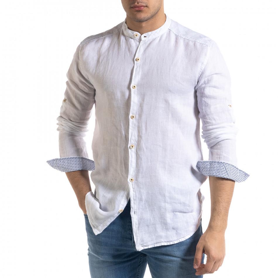 Ανδρικό λευκό πουκάμισο RNT23 tr110320-90