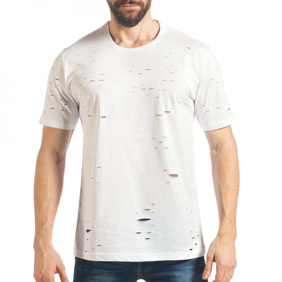 Ανδρική λευκή κοντομάνικη μπλούζα Black Island tsf020218-30