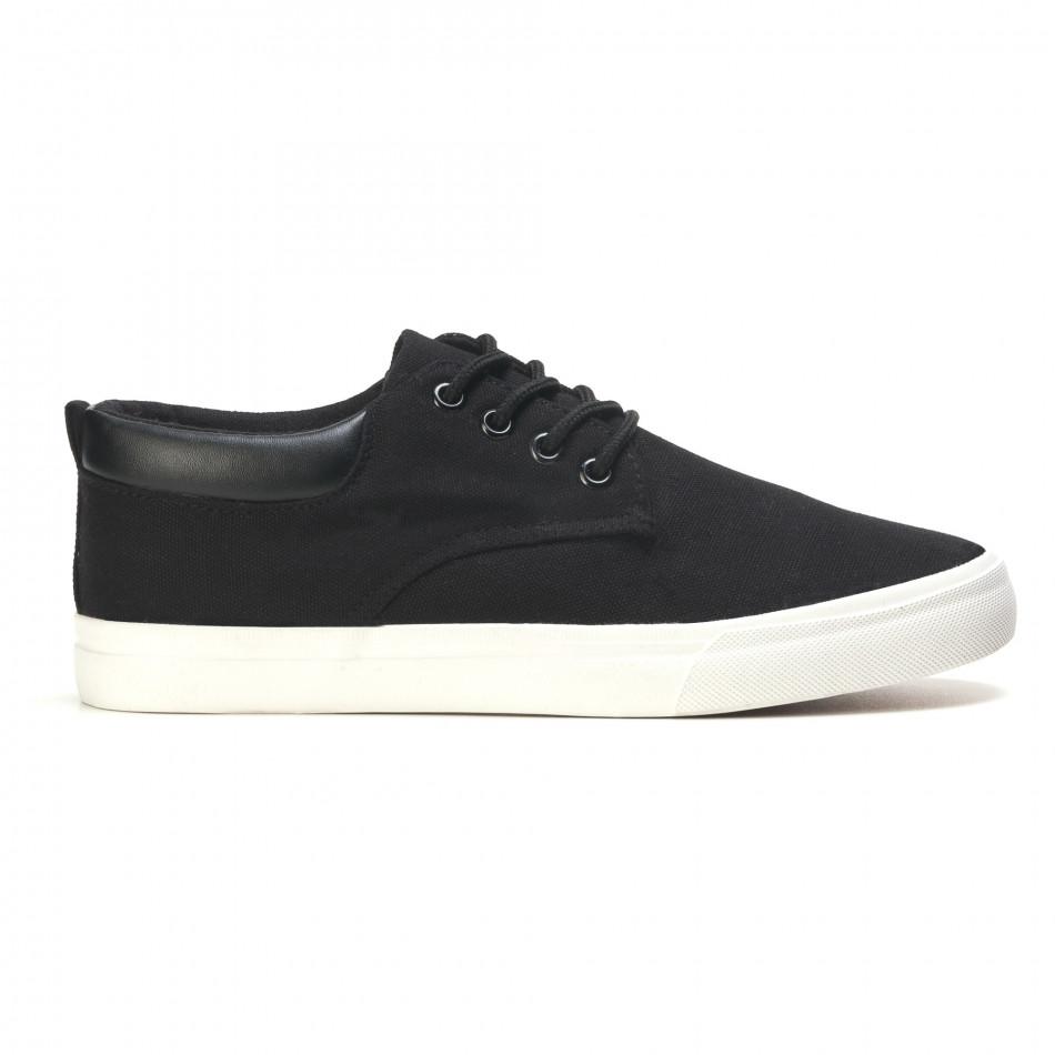 Ανδρικά μαύρα sneakers Garago it170315-14