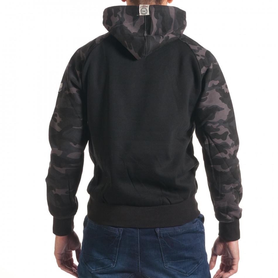 M Bel Marshall ανδρικό μαύρο φούτερ marshall it240816 40 fashionmix gr