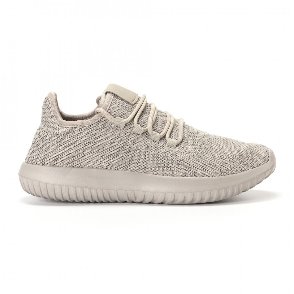 Ανδρικά γκρι αθλητικά παπούτσια Kiss GoGo it250118-8