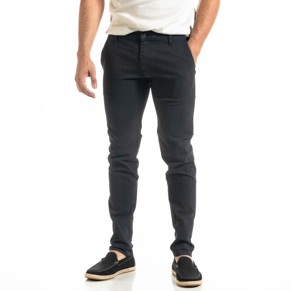 Ανδρικό μπλε παντελόνι Slim fit Chino it020920-19
