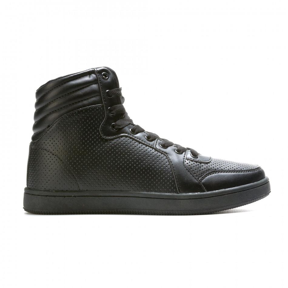 Ανδρικά μαύρα sneakers Niadi it211015-1