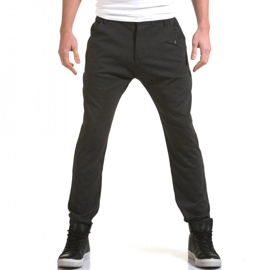 Ανδρικό γκρι παντελόνι Jack Berry it090216-3