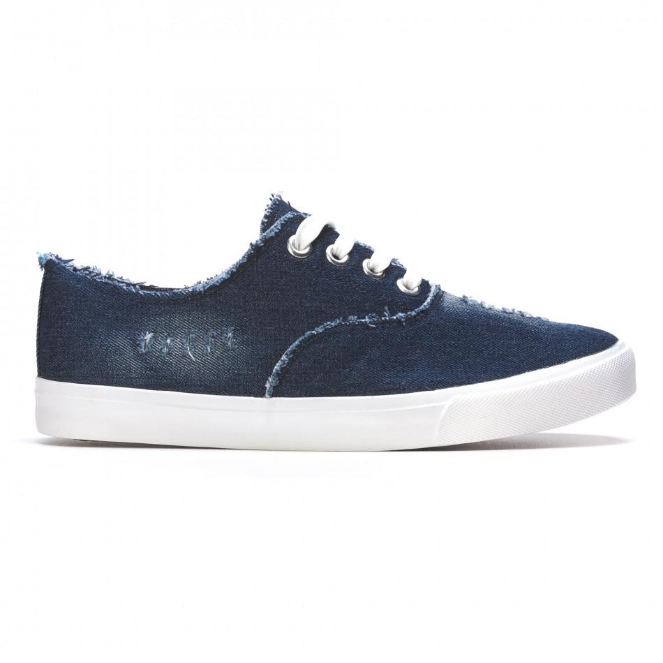 Ανδρικά γαλάζια sneakers Gira Sole It050216-19