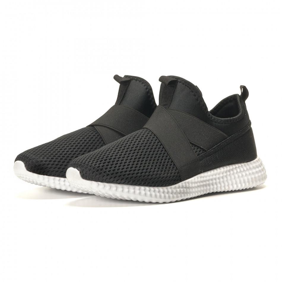 Ανδρικά μαύρα αθλητικά παπούτσια Naban it110517-2