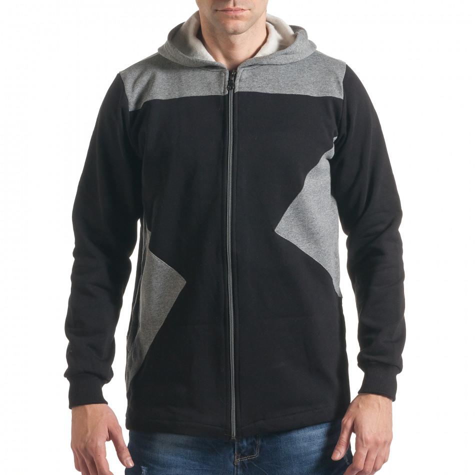 Ανδρικό μαύρο φούτερ ChRoy it211116-44